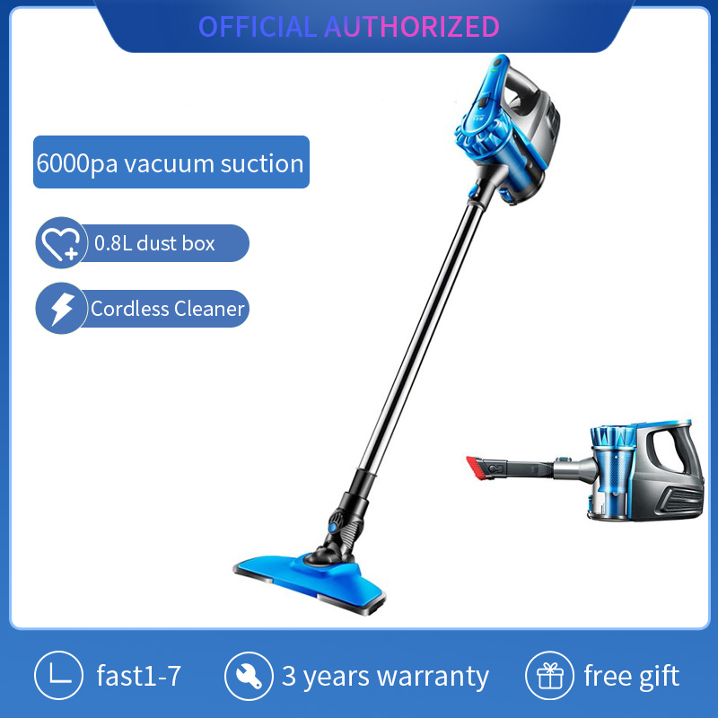 Cordless Vacuum Cleaner  Rechargeable Portable Handheld Vacuum With 6000Pa Powerful Suction For Home Office Car Pet