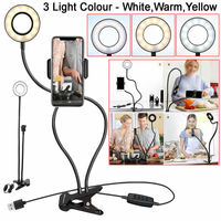 Phone Holder Led Selfie Ring Light Phone Holder Stand Ring for Youtube Live Stream Phone Holder Tripod for iPhone Mobile Phones|Phone Holders & Stands| |  -