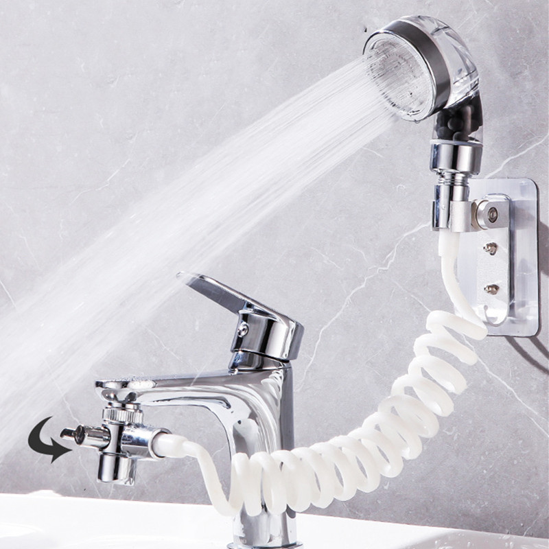 Bathroom Wash Face Basin Water Tap External Shower Head Toilet Hold Filter Flexible Hair Washing Faucet Rinser Extension Set