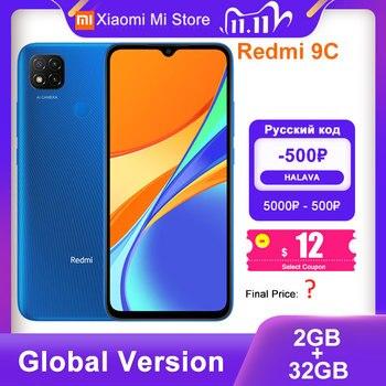 Global Version Xiaomi Redmi 9C Mobile Phone 2GB RAM 32GB ROM MTK Helio G35 Octa Core 6.53