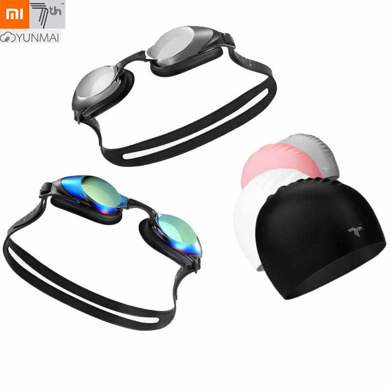 Xiaomi yunai gafas de natación 7 ° gorra profesional HD antiniebla gafas con Clip nasal tapón para oídos para adultos gafas