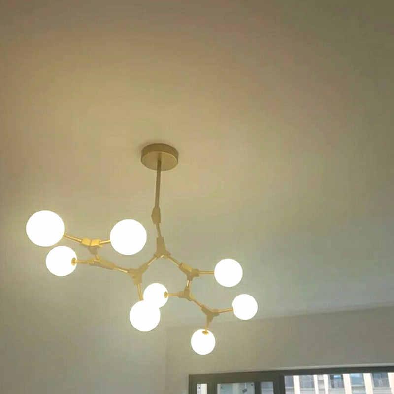 Nordic Living Room pendant lamp American Art Restaurant Bar Counter Bedroom Iron Tree Stick Magic Pigeon Pendant Light
