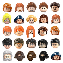 Famous Magic Academy Movie Character Head Movable Building Block Accessorie Magic Broom Trophy Children Boy Educational Toy Gift