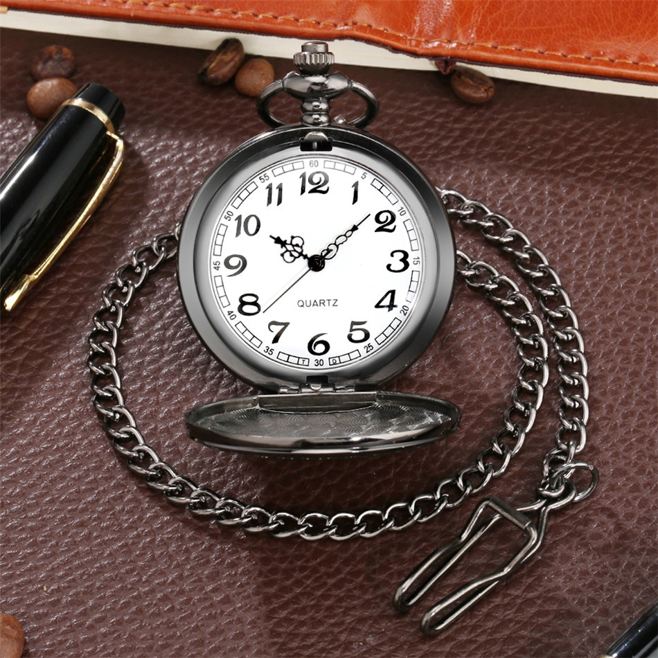 Cool Snake Display Quartz Pocket Watch with Pocket Chain Analog Arabic Numerals Dial Fob Pendant Clock Gifts reloj de bolsillo