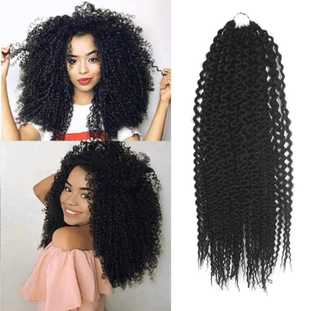 Soku sintético freetress tranças extensões de cabelo pré-loop ilha torção 3 pçs cabelo pré-esticado 16 Polegada afro encaracolado crochê trança