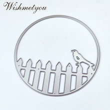 WISHMETYOU Fence Bird Metal Crafts Cutting Knife Mold Scrapbook Embossing Dies Decorative Tools DIY