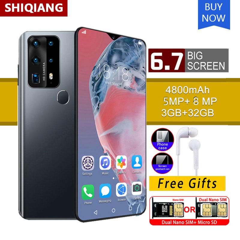 Soyes P40 Pro 6.7 Inch Android Telefoon 4800Mah Ram 3Gb Rom 32Gb 8.0MP Achter Smartphone 6 Core mtk 6591 Vingerafdruk Unlock Mobiel