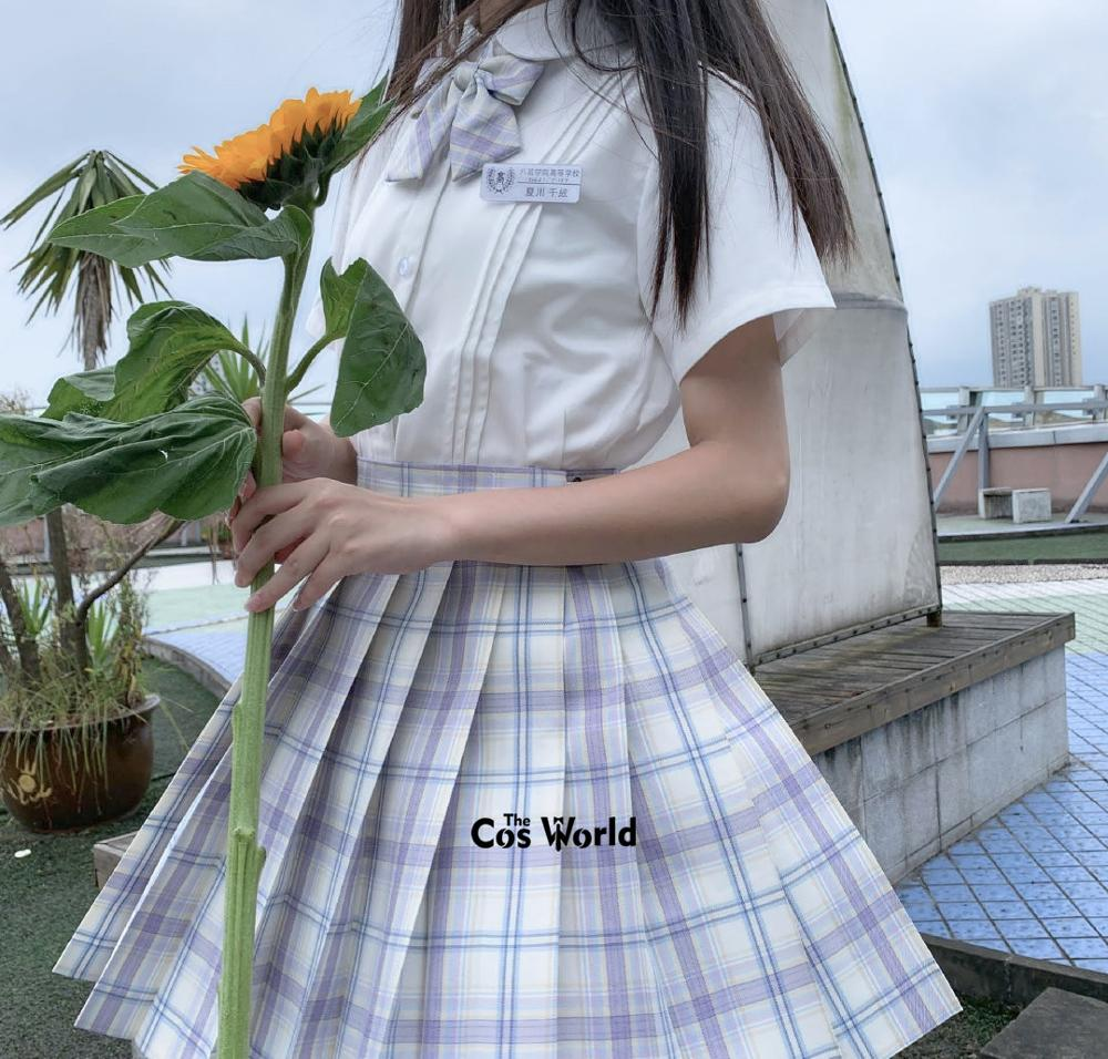 [Hoshino] Girl's Japanese Summer High Waist Pleated Skirt Plaid Skirts Women Dress For JK School Uniform Students Cloths
