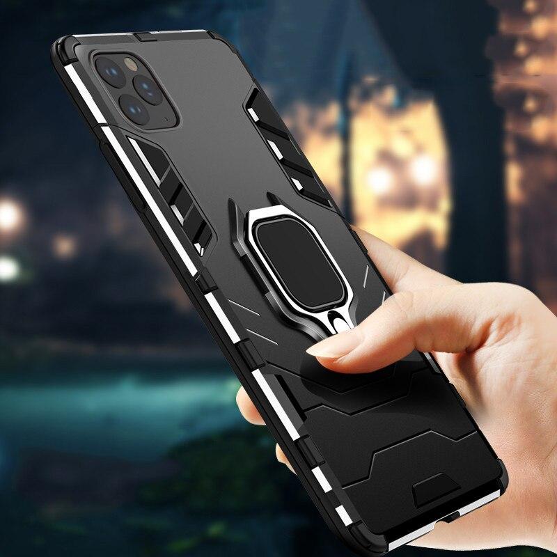 Coque blindée antichoc pour iPhone, compatible modèles 5, 5s, 6, 6S, 7, 8 Plus, 11 Pro Max, X, XR, Xs Max, SE 2020