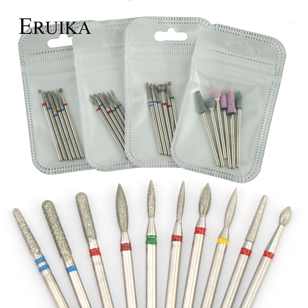 6pcs/pack Diamond Nail Milling Cutter Rotary Burr For Nail Files Cuticle Clean Drill Bits Apparatus For Manicure Art Tools