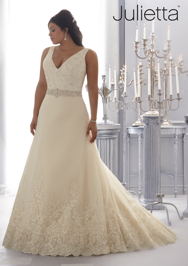 Plus Size Wedding Bridal Gown Deep V-neck Sleeveless Sexy Backless Vestido De Noiva 2018 Lace Brides
