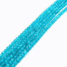 Light blue cracked crystal stone round loose spacer beads 6/8/10mm