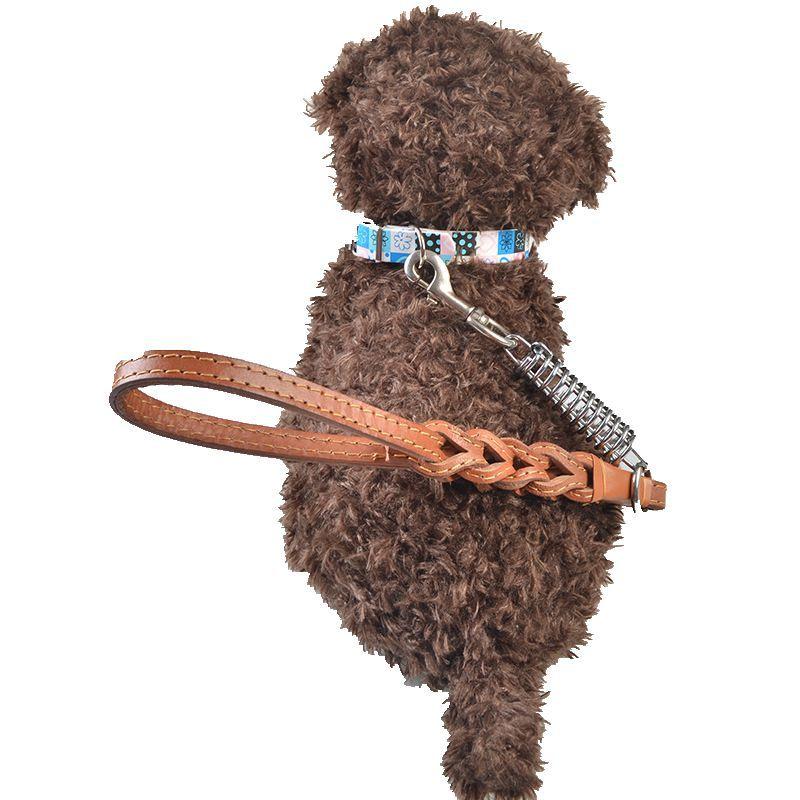 Dog Pendant Supplies Pet Hide Substance Step Hand Holding Rope Medium Large Dog Proof Punch Traction Belt