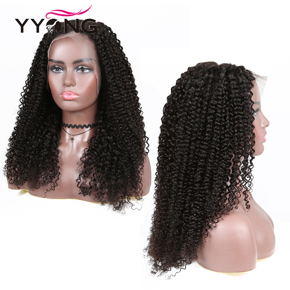 YYong 1x4& 1x6 Topline Lace Kinky Curly Lace Part  Wig HD Transparent Lace Wigs  Wig 32inch 5