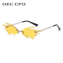 Oec cpo модные маленькие солнцезащитные очки без оправы женские