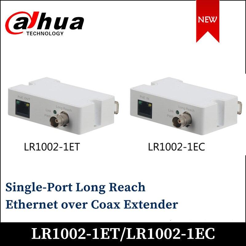 Dahua Ethernet de un solo puerto de largo alcance sobre el extensor coaxial LR1002-1ET 1 LR1002-1EC RJ45 10/100Mbps 1 BNC accesorio ip