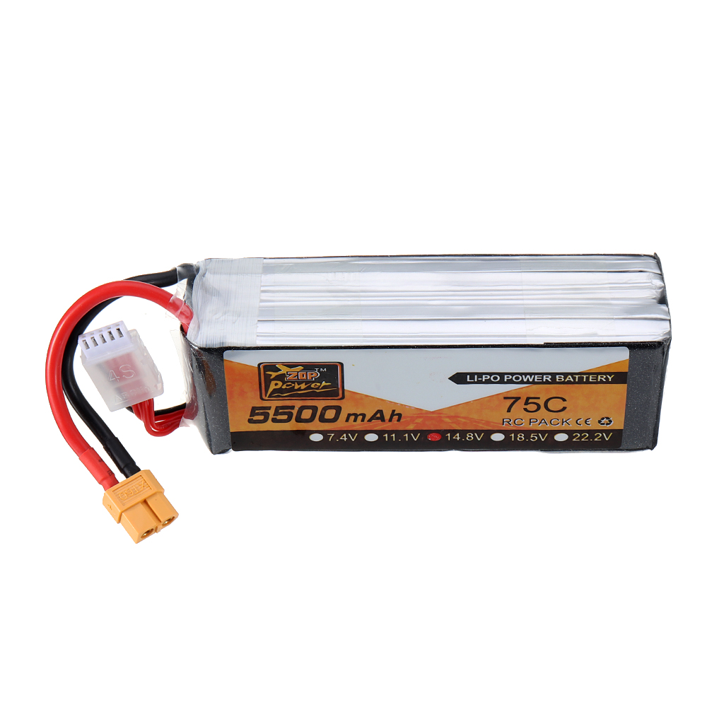 ZOP Power 14.8V <font><b>5500mAh</b></font> 75C <font><b>4S</b></font> <font><b>Lipo</b></font> Battery for RC FPV Racing Drone Quadcopter Airplane image