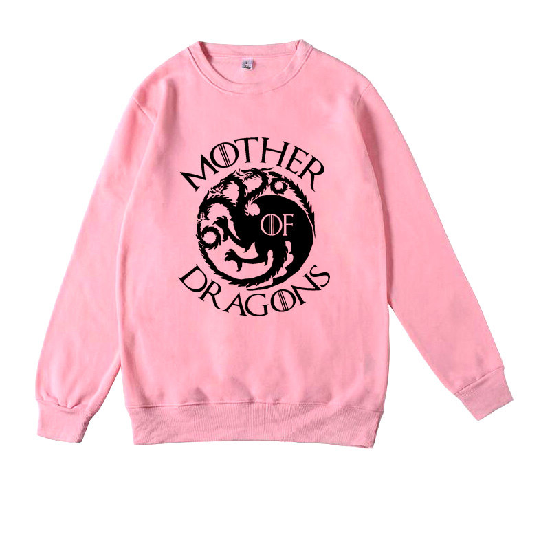 Mother Of Dragons Sweatshirt Women's Game Of Thrones Dragons Jumper Hoodie Khaleesi North Remembers Dire Wolf  Got Woman Clothes