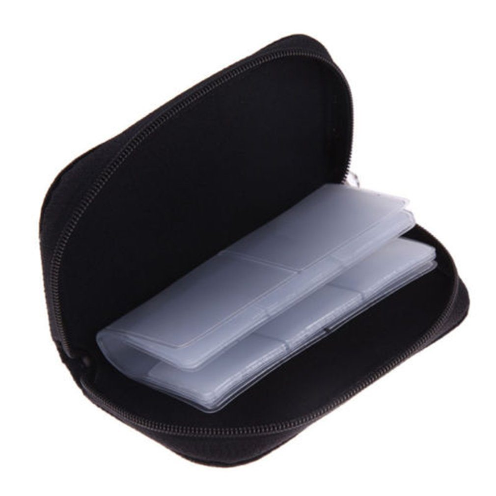 Memory Card <font><b>Storage</b></font> Bag Carrying Case Holder Wallet 22 Slots for CF/<font><b>SD</b></font>/<font><b>Micro</b></font> <font><b>SD</b></font>/SDHC/MS/DS Game Accessories memory card box image