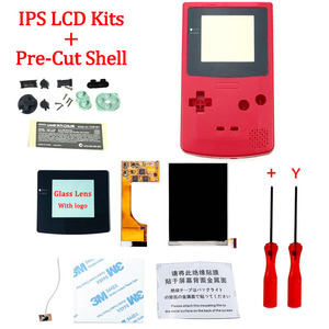 Image 5 - Full Screen Backlight IPS LCD With Pre cut Shell Case for Gameboy Color ips backlight LCD screen for GBC with housing shell case