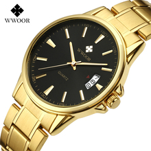WWOOR Men Classical Analog Quartz Watch Ultra Thin Fashion C