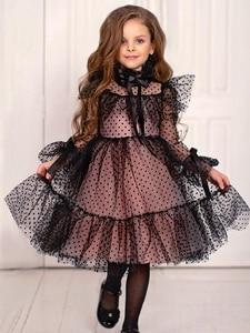 Новое платье для девочек, черные Детские платья для девочек, праздничное платье, платья подружки невесты, бальное платье без рукавов, реквиз...