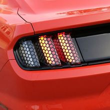 цены 6Pcs Honeycomb PVC Car Rear Tail Light Decorative Decal Stickers Cover Decoration Fit For Ford Mustang 2015 2016 2017