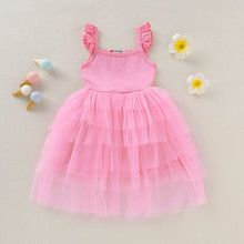 Baby Girls Dress Toddler Baby Girls Clothes Toddler Kids Baby Girls Ruffles Strap Princess Tulle Dress Outfits Clothes vestidos