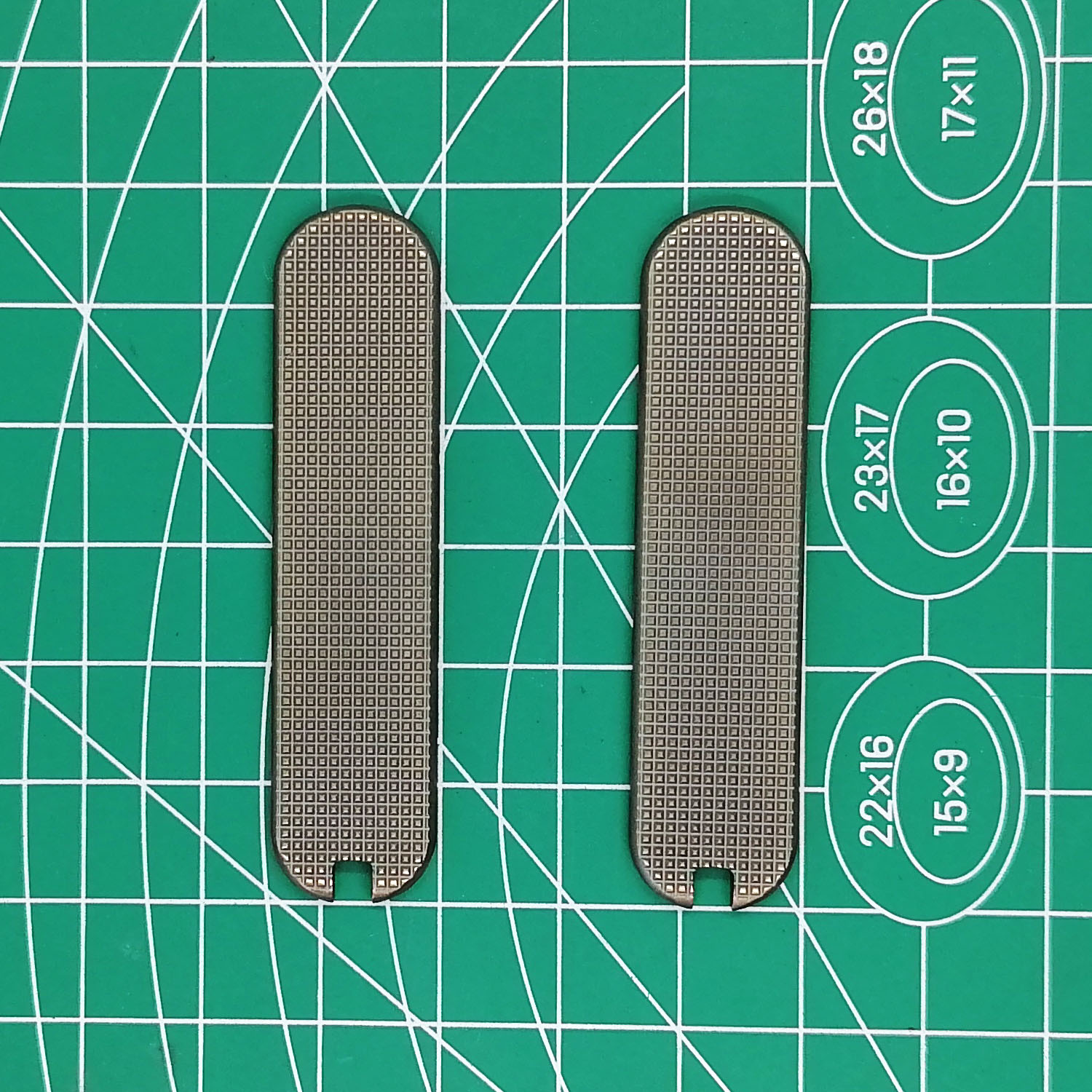 Custom Victorinox Swiss Army Brass Handle Scales With Tweezer Cut-Out For 65mm