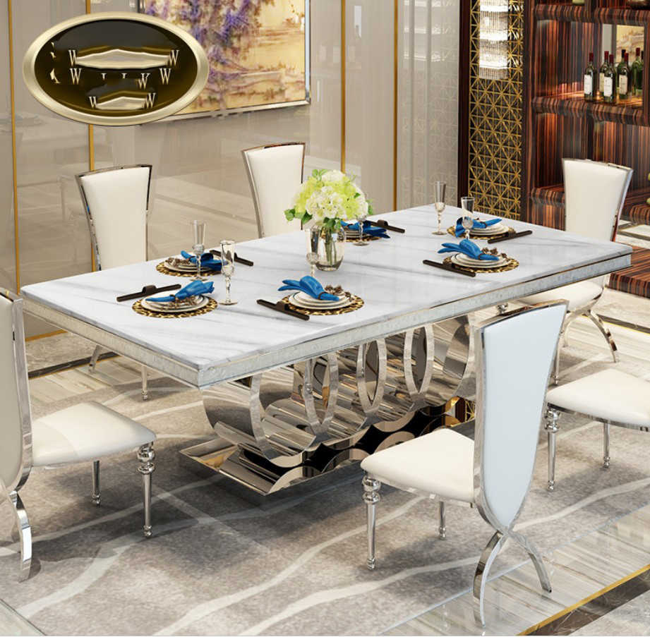 Modern Style Italian Dining Table, 9 Solid Wood Italy Style ...