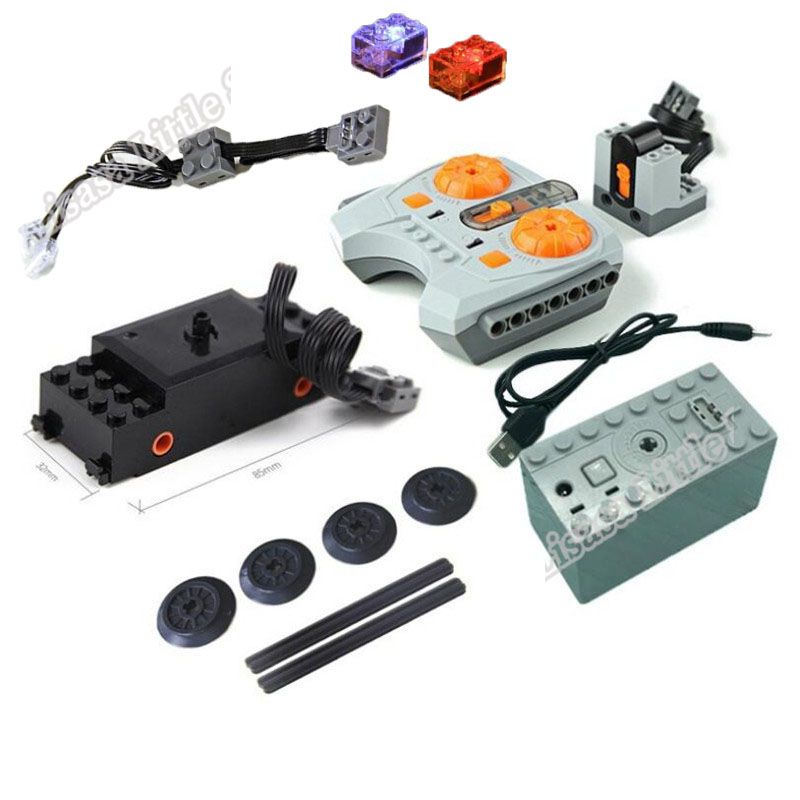 NEW Remote Control Legoinglys Train Parts Motor MOC Technic Battery Box 10254 Building Blocks Parts DIY Toys Power Funtion Toys