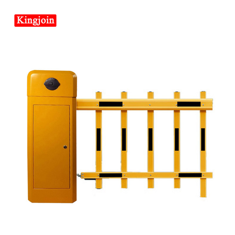 KINGJOIN Remote Gate Arm Double-layer Yellow Boom  Car Barrier Gate Barrier / Collision-proof Intelligent Barrier Gate