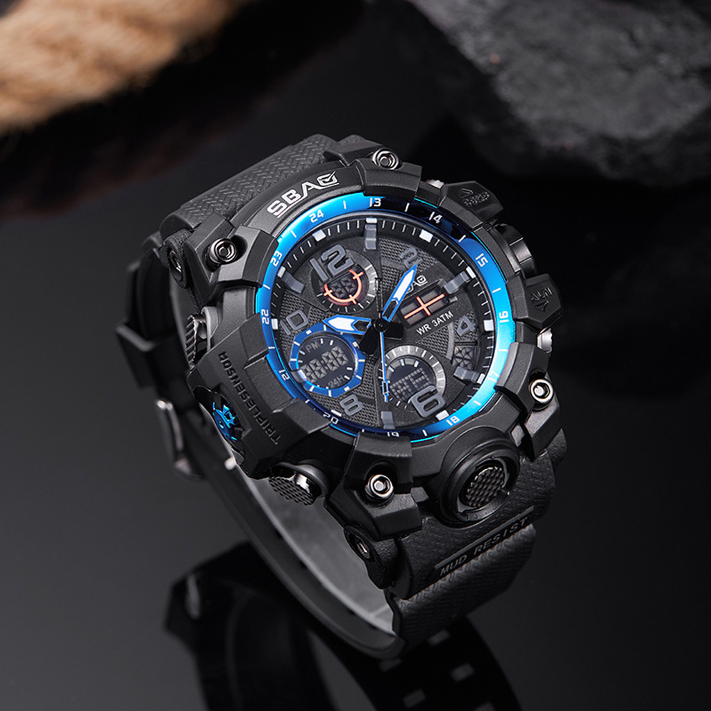 Wristwatch Led Digital Military SBAO Electronic Men Fashion Relogio Masculino Sport title=