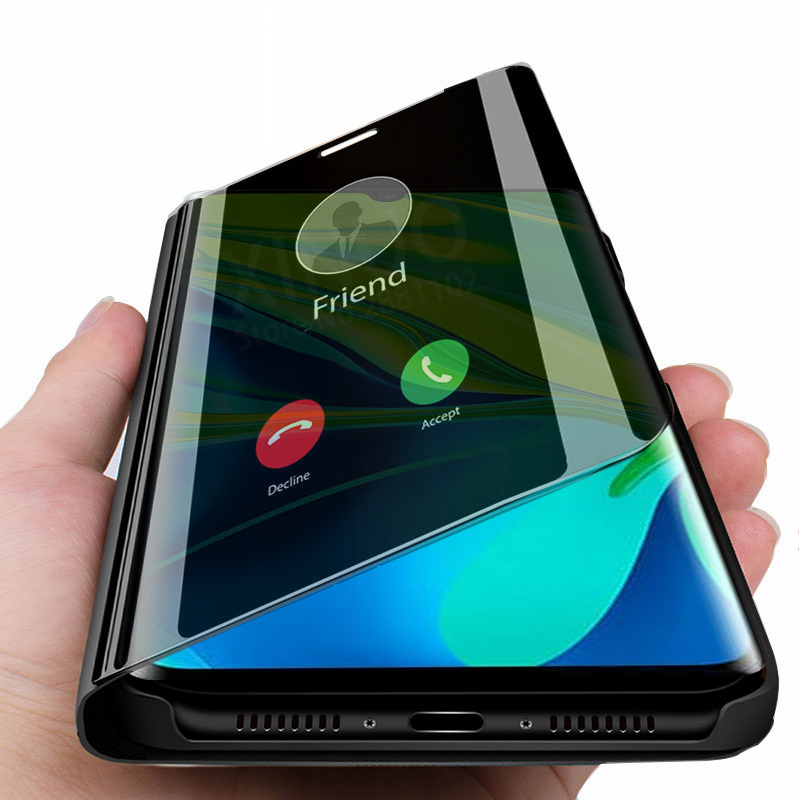 Зеркальный чехол для смартфона xiaomi Note 10 pro CC9 pro, кожаный флип-чехол для xiaomi Note10 pro 10pro CC9pro, чехол для задней панели телефона