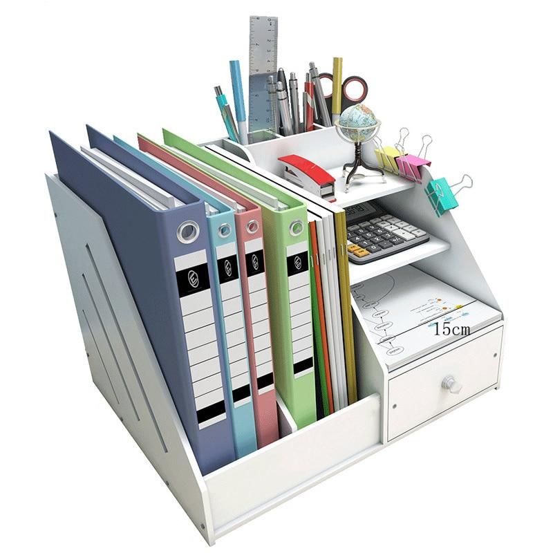 DIY Magazine Organizers Desk Organizer Book Holder Desk Stationery Plastic Storage Organizer Holder Stand Shelf Rack Joy Corner