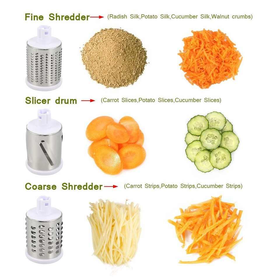 Ttlife manual de aço inoxidável vegetal slicer multiuso redondo mandoline legumes frutas cortador batata queijo raladores carne