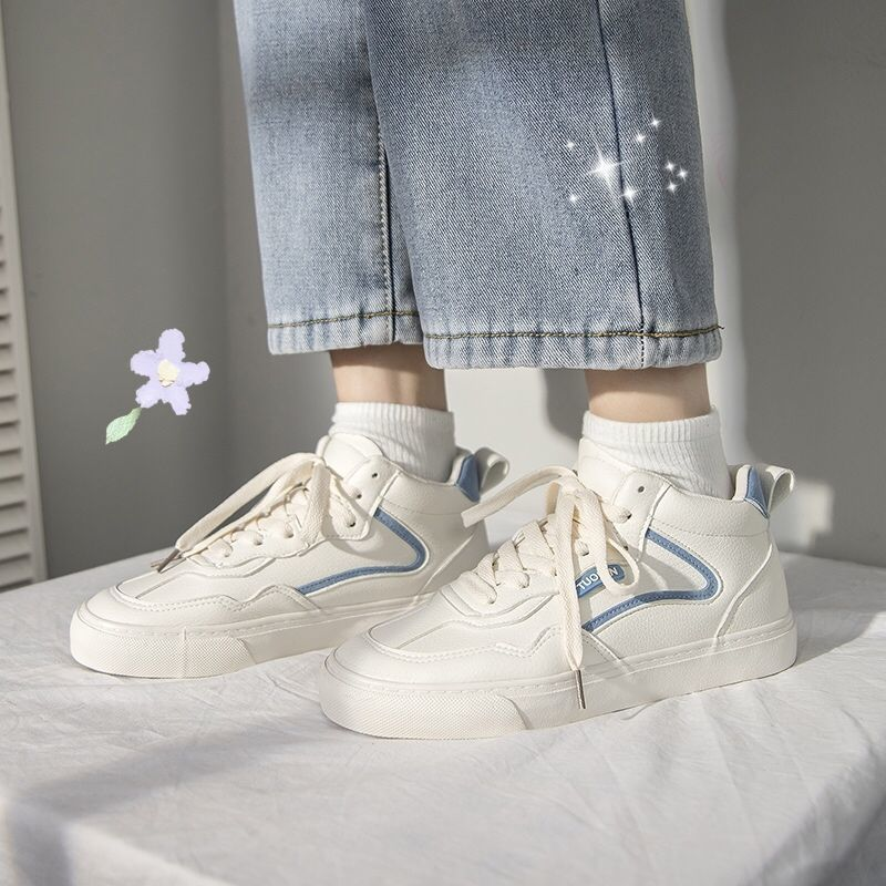 Sneakers Women's Sports Shoes Casual Kawaii Flats 2021 Fashion Spring New Platform Vulcanize Little White Footwear