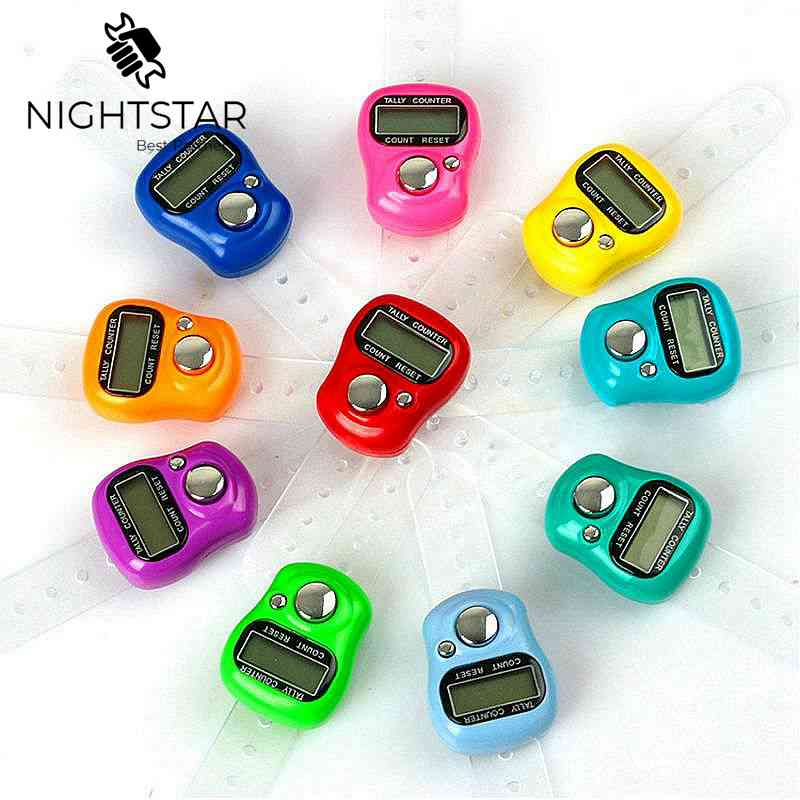 Mini Stitch Marker and Row Finger Counter LCD Electronic Digital Tally Counter for Sewing Knitting Weave Tool / Random Color(China)