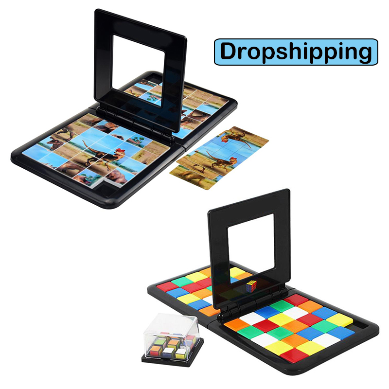 Magic Cube Race Game Parent-child Interaction Cube Double Game Desktop Puzzle Funny Educational Toys For Children Adults Gift