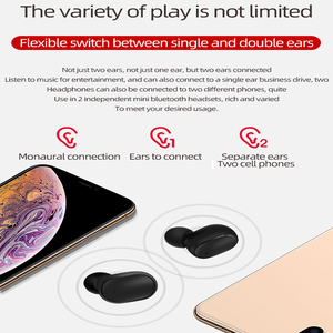 Image 5 - M1 אלחוטי Bluetooth אוזניות VS Redmi Airdots אלחוטי אוזניות TWS אוזניות רעש ביטול מיקרופון עבור Xiaomi כבוד huawei oppo