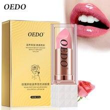 OEDO Pflegende Bunte Lip Balm Rose Peptid Nährende Anti Aging Frostschutz Reparatur Schaden Lip Anti-rissige Lippen Feucht Creme