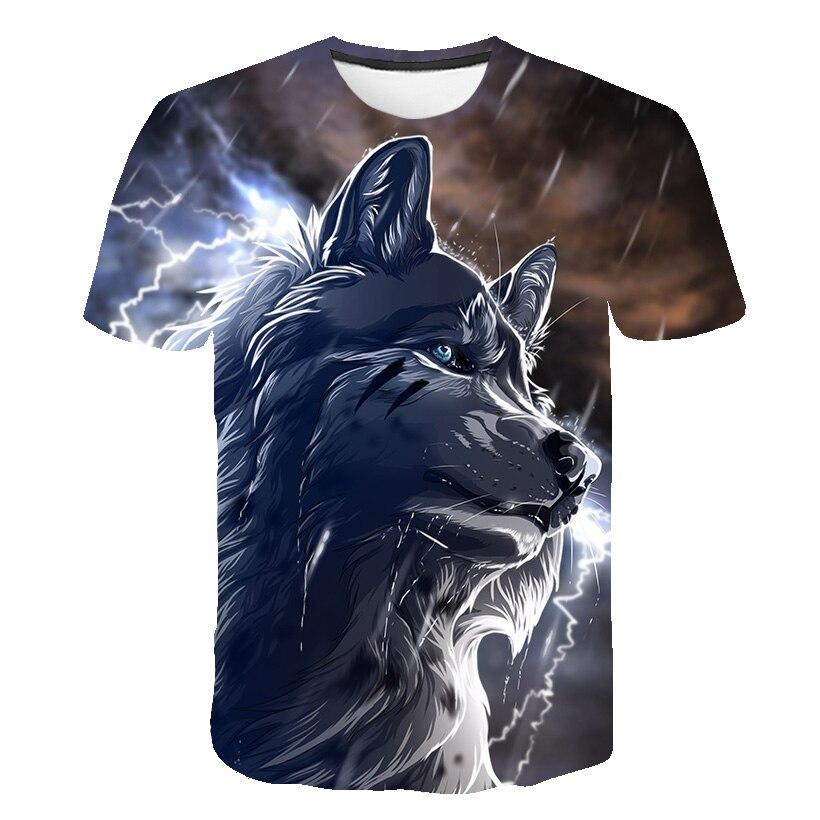 3D Pattern T-Shirt Motion Tops Elegant Men T-Shirt 3D Wolf Summer Men Women Casual Fashion T-Shirt 2019 New Customizable Tops