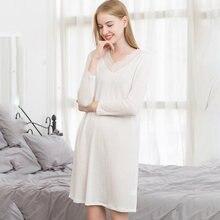 Шелковая ночная рубашка пижама женская одежда для сна свободная