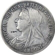 Великобритания 1896 1 Корона-Виктория 3 Портретные копии монет
