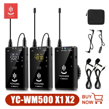 Yichuang WM500 X1 X2 Wireless Lavalier Microphone kit with Receiver and Transmitter for DSLR Camera Smartphone Tablet Camcorder