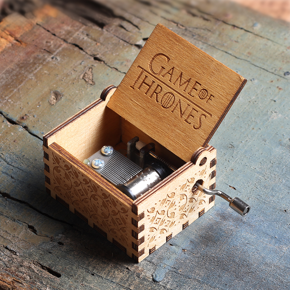 Новинка, деревянная музыкальная шкатулка для королевы, Игра престолов, Dragon Ball TO MY Goigeous, тематическая музыкальная шкатулка для жены, рождественский подарок - Цвет: Game of Thrones