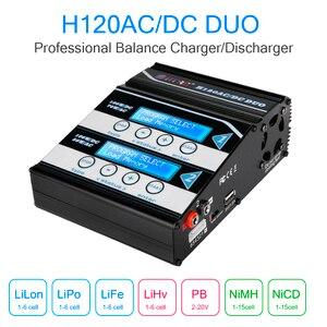 Image 3 - HTRC H120 10A chargeur de batterie ca DC double Ports déchargeur pour Lilon/LiPo/vie/LiHV/NiCd/NiMH/PB batterie RC chargeur déquilibre