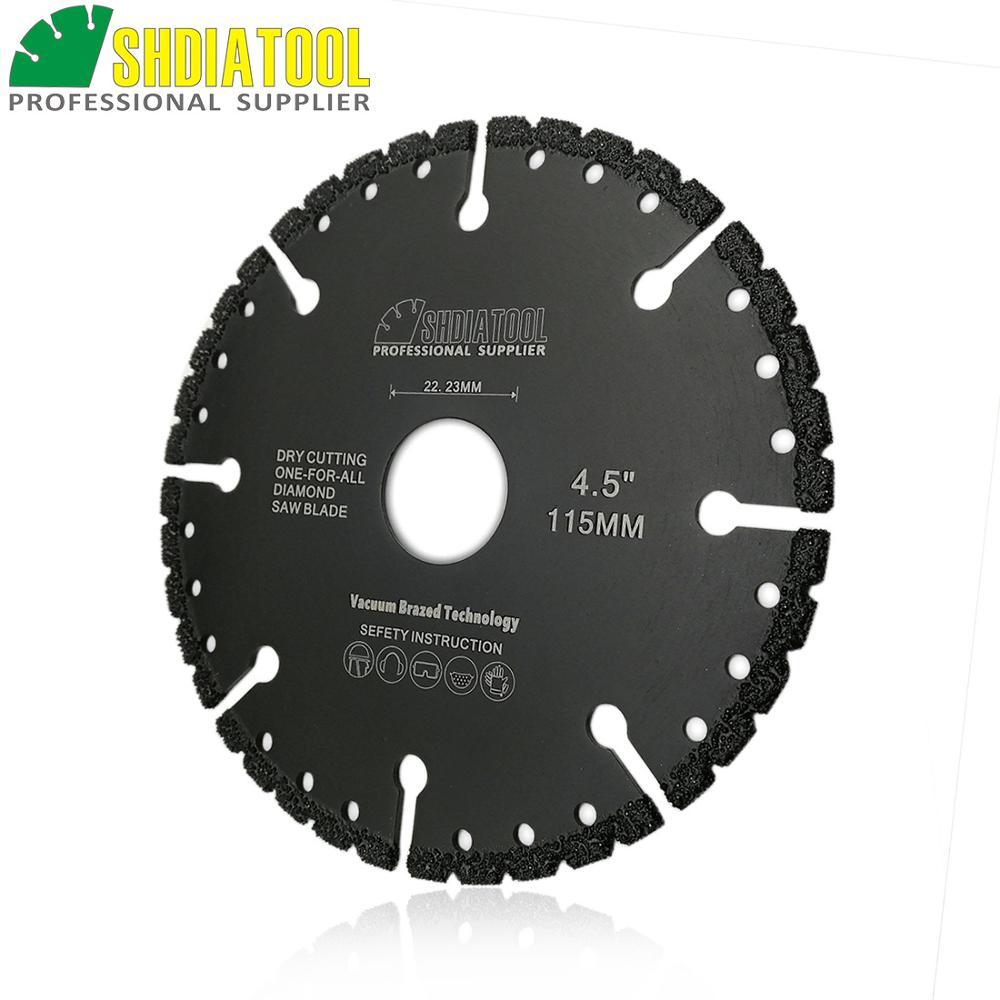 SHDIATOOL 1 Pc Vacuum Brazed Diamond Cutting Disc Multi Purpose Saw Blade Cast Iron Rebar Aluminum Plastic Steel Metal Concrete