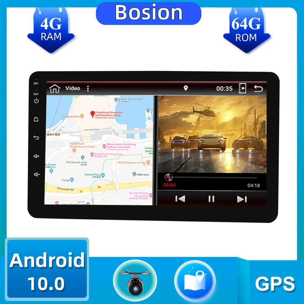 1 Din 8'' PX6 Universal Android 10.0 4GB RAM Car Radio Stereo GPS Navigation WiFi 1024*600 Touch Screen 1din autoradio Car PC image