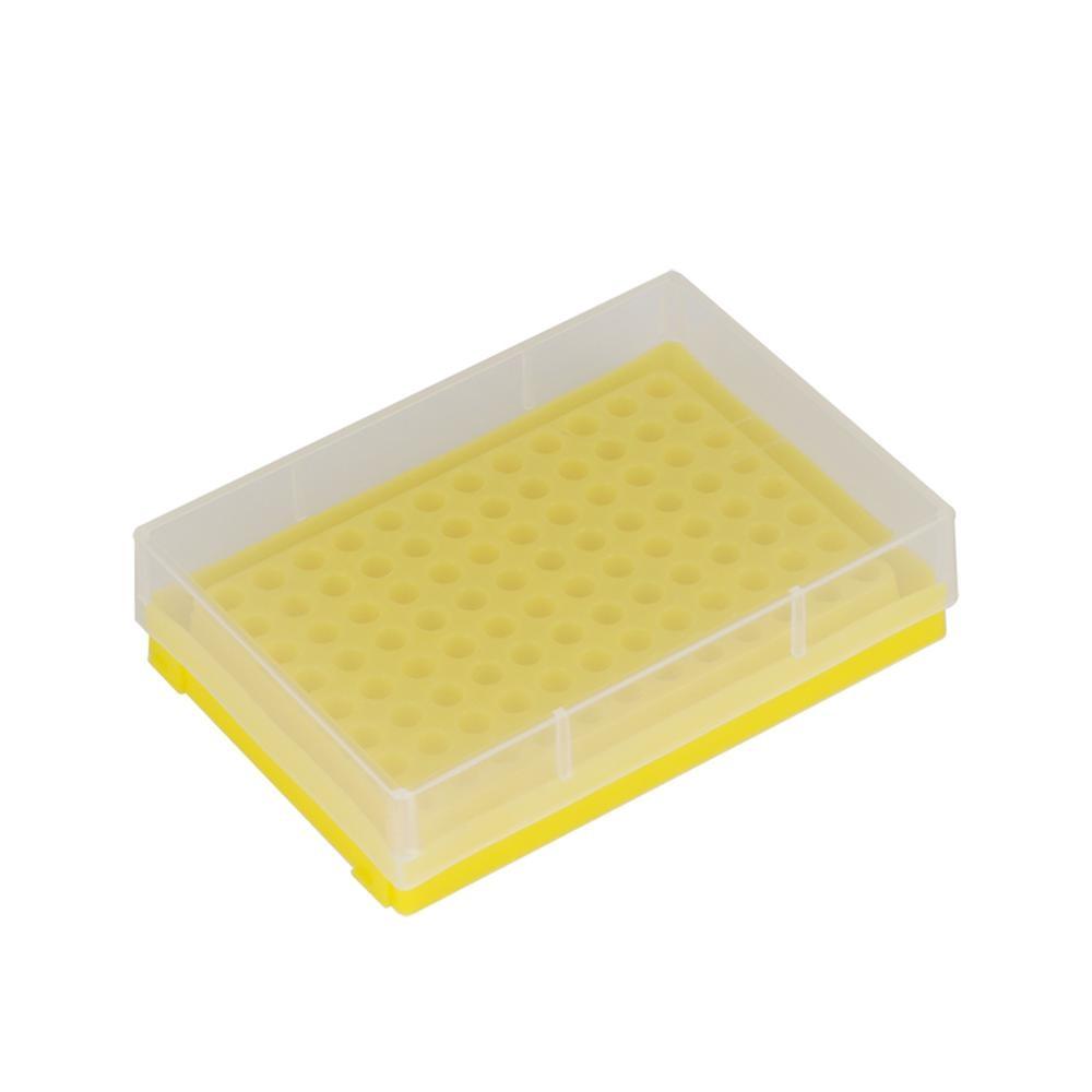 Plastic 96 Sockets Centrifuge Test Tube Rack For 0.2ml Centrifuge Tube School Laboratory Equipment 1 Pc